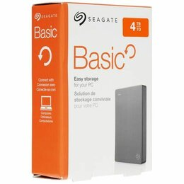 Внешние жесткие диски и SSD - Внешний жесткий диск Seagate Basic 4 тб, 0