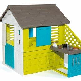 Игровые домики и палатки - Детский домик с кухней Smoby 810711 синий, 0