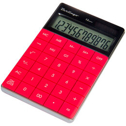 Калькуляторы - BERLINGO Калькулятор Berlingo Power TX 12 разр., темно-розовый, 0