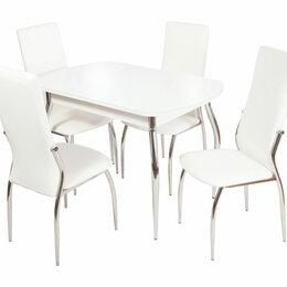 Кровати - Обеденная группа для столовой и гостиной - Стол Ривьера + 4 стула Мартини, 0