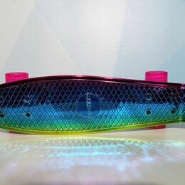 Скейтборды и лонгборды - Пластборд пениборд Ecoline NEO pink blue, новый., 0