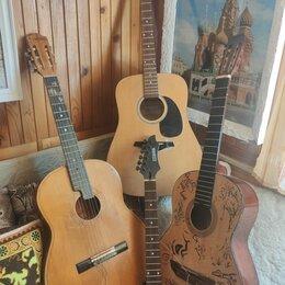 Акустические и классические гитары - Акустическая гитара 3 штуки + гриф, 0