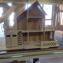 """Игрушечная мебель и бытовая техника - Кукольный домик """"Котедж с гаражем"""", 0"""