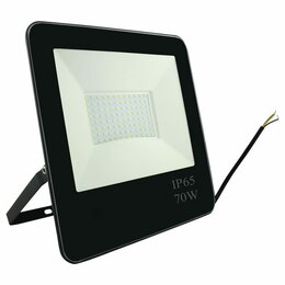 Прожекторы - Прожектор светодиодный 70Вт 6500К 5600Лм черный IP65, 0