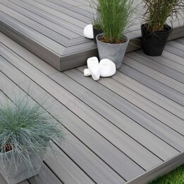 Древесно-плитные материалы - Террасная доска из ДПК 3000*140*18мм. , 0