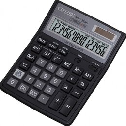 Калькуляторы - CITIZEN Калькулятор CITIZEN SDC-395N 16-разр., 0