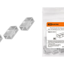 Светодиодные ленты - Коннектор для жесткого соединения двух светодиодных лент SMD2835-220 В TDM SQ..., 0