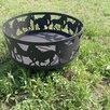 """Костровая чаша """"Лошади"""" с подставкой под шампура или гриль по цене 12000₽ - Очаги для костра, фото 3"""