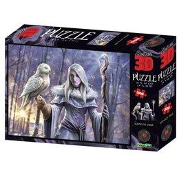 Пазлы - 3D Пазл 500 элементов «Зимняя сова», 6+, 0