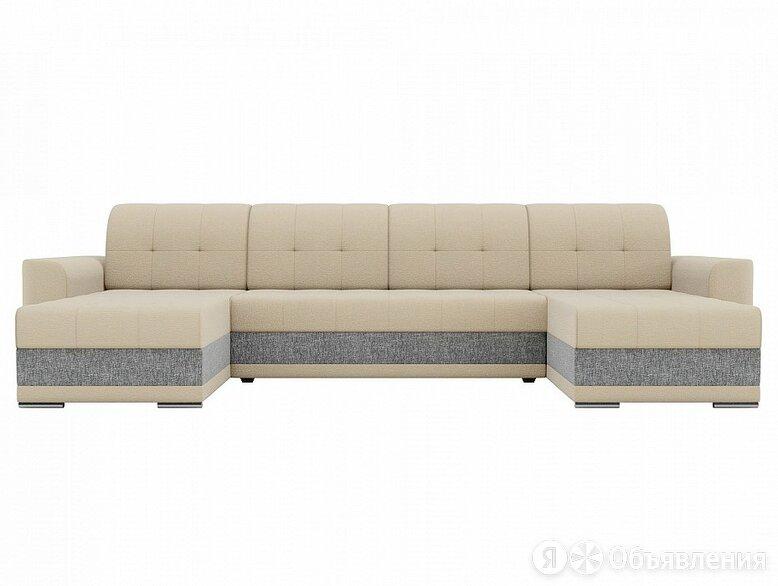 П-образный диван Честер Рогожка Бежевый/Серый по цене 63090₽ - Диваны и кушетки, фото 0