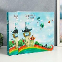 Картины, постеры, гобелены, панно - Фотоальбом 972 фото 9х13 10х15 13х18 15х20 20х25 А4 'Городок' в коробке 35,2х..., 0