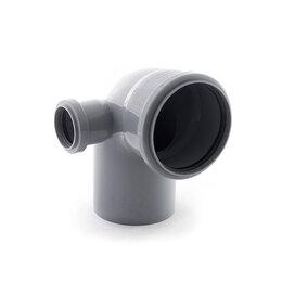 Канализационные трубы и фитинги - Отвод канализационный 110/50 угол 87 левый РосТурПласт, 0