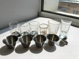 Рюмки и стопки - Стопки рюмки металлические и стеклянные 10 шт, 0