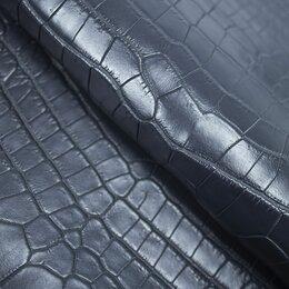 Рукоделие, поделки и сопутствующие товары - Целая шкура крокодила цвет мокрый асфальт полуматовый, 0