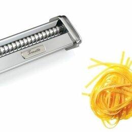 Пельменницы, машинки для пасты и равиоли - Насадка лапшерезка Marcato Trenette к тестораскатке Atlas 150 mm, 0
