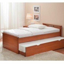 Кровати - Кровать двухъярусная выкатная комод письменный стол, 0