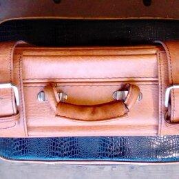 Чемоданы - Советский кожаный чемодан. В превосходной сохранности., 0