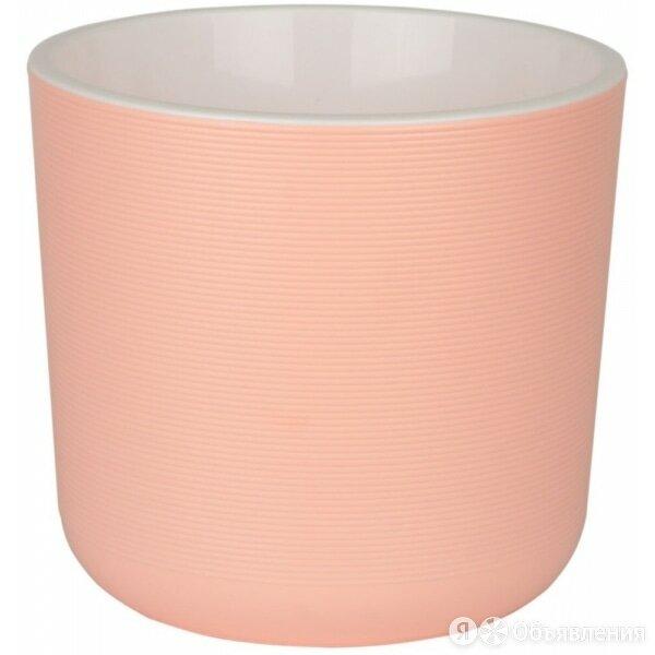 Горшок пластиковый Лион розовый с вкладкой d14,7 h13 v2л по цене 195₽ - Аксессуары и средства для ухода за растениями, фото 0
