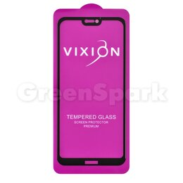 Защитные пленки и стекла - Защитное стекло 6D для Huawei P20 Lite (черный) (VIXION), 0