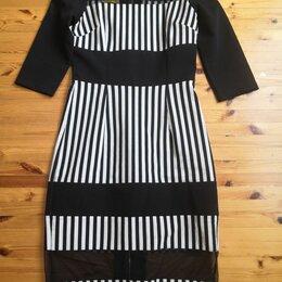 Платья - Платье - футляр, полосатое, изысканное 44-46р. , 0