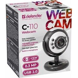 Веб-камеры - Новая Веб-камера defender c-110 0.3 мп, 0