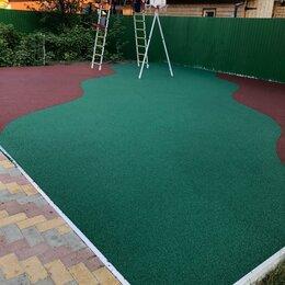 Садовые дорожки и покрытия - Бесшовное покрытие из резиновой крошки плитка , 0