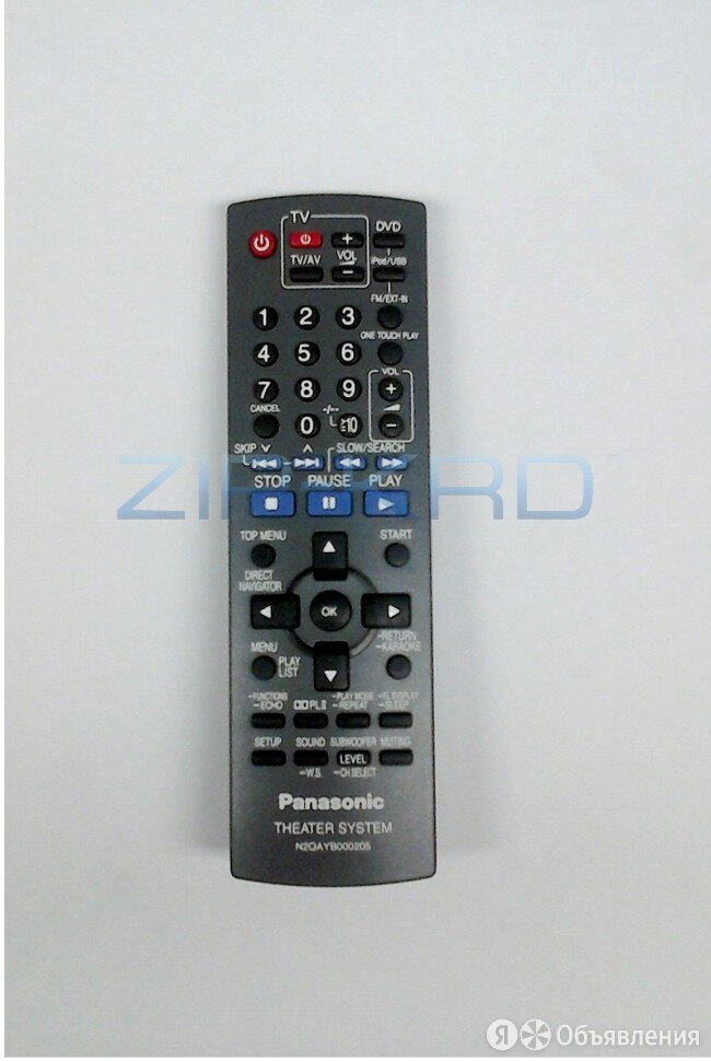 Пульт ДУ Panasonic N2QAYB000205 для домашнего кинотеатра по цене 1510₽ - Аудиооборудование для концертных залов, фото 0