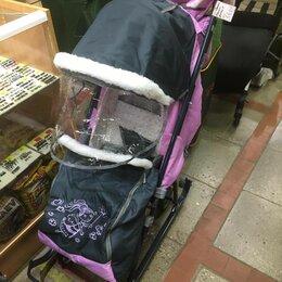 Санки и аксессуары - санки коляска складные Наши Детки-4 с перекидной ручкой 3 положения, 0