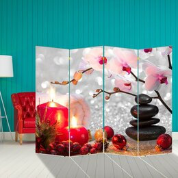 """Диваны и кушетки - Ширма """"Орхидея. Уют"""", 200 × 160 см, 0"""