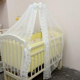 Постельное белье - Балдахин для кроватки 4,5*1,6 метров. Белый /Новый/., 0
