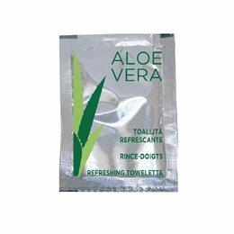 Средства для интимной гигиены - Гигиенические салфетки влажные Aloe Vera, 6*8 см, PET, 500 шт, 0