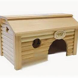 Клетки и домики  - разборный Дом «Баня» для средних и крупных грызунов 28.18.15,5 см , 0