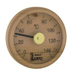 Датчики температуры, влажности и заморозки - Термометр, круглый с гравировкой, Кедр, 102-TD, 0