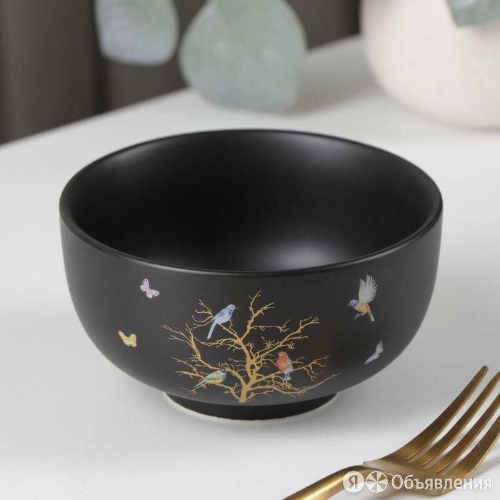 Миска 'Колибри', 12x6,5 см, цвет черный по цене 477₽ - Блюда, салатники и соусники, фото 0