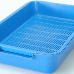 Туалеты и аксессуары  - Туалет для кошек с сеткой HOMECAT (37*27*8) синий, арт.70024/ШК9523, 0