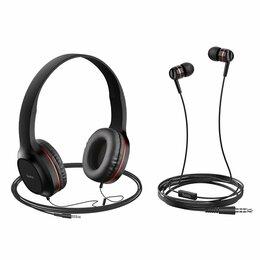 Наушники и Bluetooth-гарнитуры - Проводные наушники с микрофоном полноразмерные Hoco W24 Enlighten + вакуумные..., 0