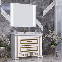 Готовые строения - Мебель для ванной Opadiris Оникс 100 золото, 0