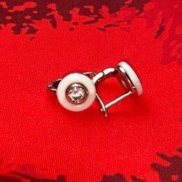 Серьги - Серебряная серьга, 0