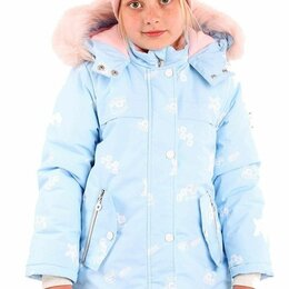 Куртки и пуховики - 224-20з-1 БАТИК Барби Парка  Дев Голубой  Зима, 0