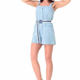 Джинсы - Полукомбинезон М-7055 T&N голубой джинс Модель: М-7055, 0