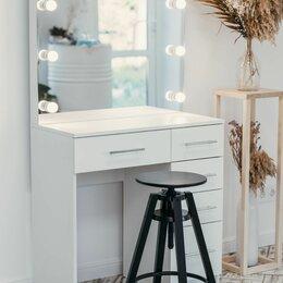 Столы и столики - Гримёрный столик и зеркало с подсветкой, 0