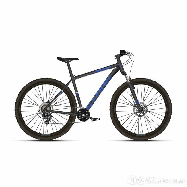 """Велосипед STARK 2021 г, черный/голубой, рама 18"""" по цене 28230₽ - Велосипеды, фото 0"""