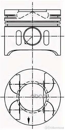 Поршень Mercedes 2.22.7d Mot.Om611om612 D=88.51мм /2.5-2-3/ +0.50 Ks арт. 97 ... по цене 5650₽ - Отопление и кондиционирование , фото 0