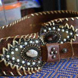 Ремни и пояса - Кожаный ремень декорированный, 0