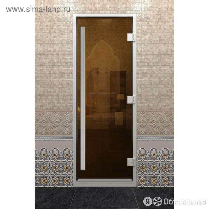 Дверь стеклянная «Хамам Престиж», размер коробки 190 × 80 см, правая, цвет б... по цене 51665₽ - Ручки дверные, фото 0