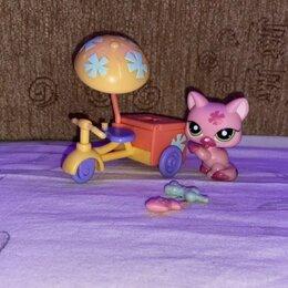 Игровые наборы и фигурки - Littlest pet shop #2525 набор мороженщик кошка стоячка, 0