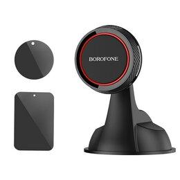 Держатели мобильных устройств - Держатель в авто BOROFONE BH14 Journey Магнитный присоска черно-красный, 0