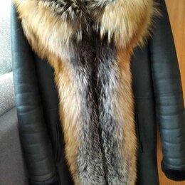 Дубленки - Дублёнка с мехом лисы, 0