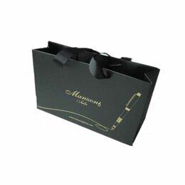 Подарочная упаковка - Пакет  бумаж.подар. д/ручек Manzoni черный, 0