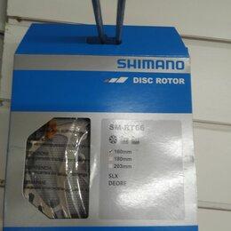 Тормоза - Диск тормозной Shimano RT66 160мм.болты 6шт проставки, 0